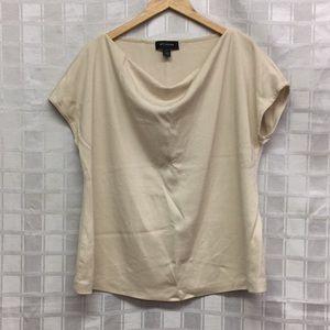 St. John Short Sleeve scoop Neck Shirt Sz XL B
